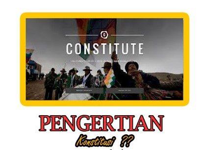 22 Pengertian Konstitusi Menurut Para Ahi Terlengkap